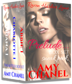Book Cover Raven Harbor Lane Box Set, Prelude, by Romance Author Amy Chanel