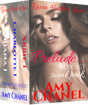 Book Cover, Prelude box set, Raven Harbor Lane short reads by Romance Author Amy Chanel