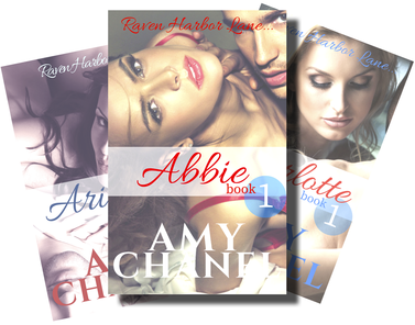 Book Covers Raven Harbor Lane short reads by Romance Author Amy Chanel