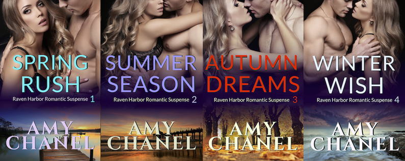 Book Covers of Raven Harbor Romance by Romance Author Amy Chanel
